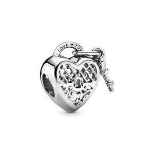 🎁Pandora Love You Heart Padlock Charm